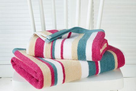 Handdoek + badhanddoek Ophelia multi - De Witte Lietaer