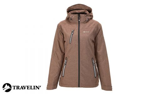 Outdoorjas voor dames VIK Lady - cognac
