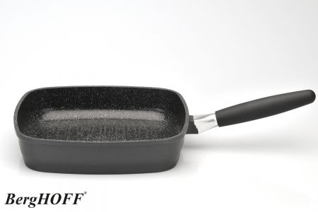 Aluminium grillpan 24 cm – zwart
