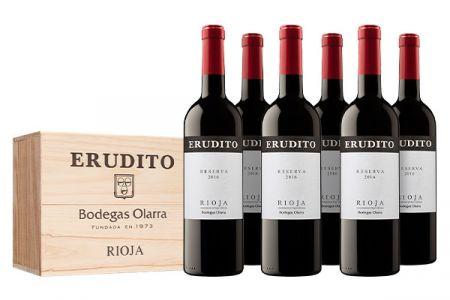 Erudito Bodegas Olarra Rioja Reserva DOC in kist - Rioja Spanje