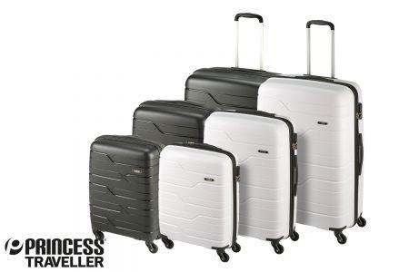 Kobe kofferset zwart en wit