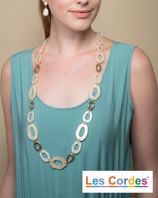 Lange halsketting met grote schakels