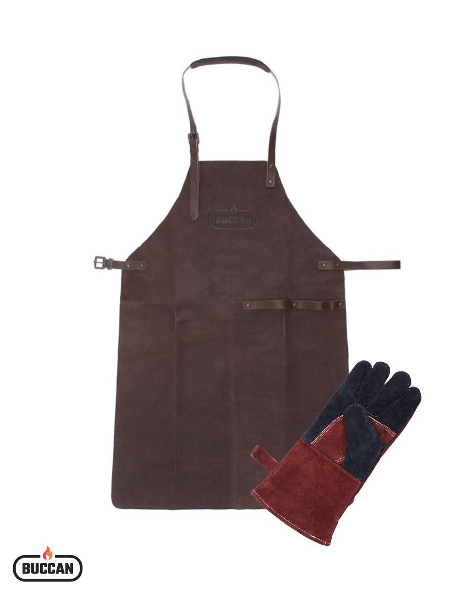 Lederen barbecue-accessoires