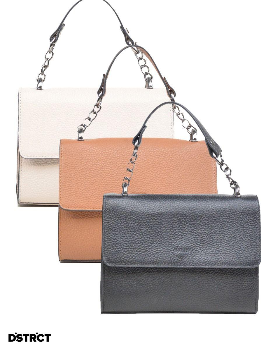 Kleine handtas Elegant in zwart, cognac of beige