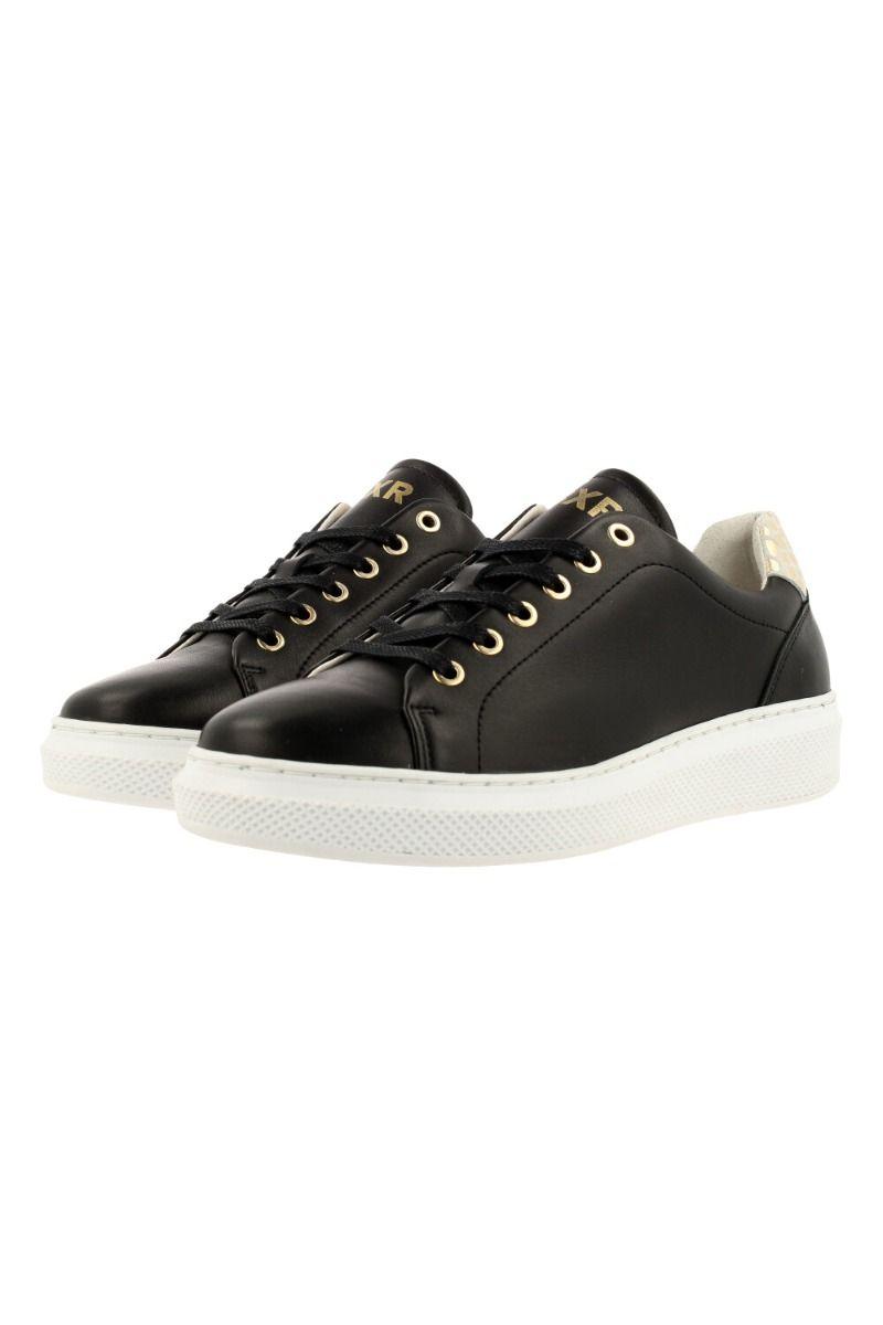 Sneaker dames zwart leder