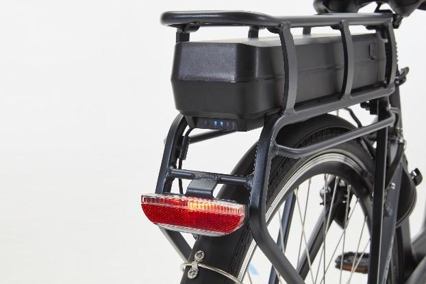 batterij onder bagagedrager elektrische fiets